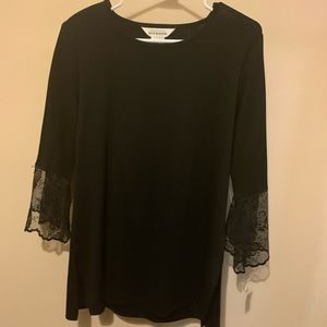 Misook Black Shirt, sz L, NWT $230.00